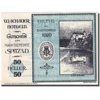 Billet Autriche Spitz An Der Donau, 50Heller Château 1920 SPL Mehl:FS 1122.10IIa - Autriche