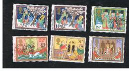 GRAN BRETAGNA (UNITED KINGDOM) -  SG 1341.1346  -  1986 CHRISTMAS (COMPLET SET OF  6)      - USED - 1952-.... (Elizabeth II)
