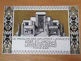 Cpa-Paris-expo Des Arts Décoratifs De 1925-le Pavillon Des Galeries Lafayette - Exhibitions