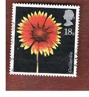 GRAN BRETAGNA (UNITED KINGDOM) -  SG 1347  -  1987  FLOWERS: NORTH AMERICAN BLANKET      - USED - 1952-.... (Elizabeth II)
