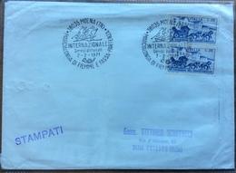 SPORT INVERNALI  CHIUSAFORTE UDINE 28 SLALOM GIGANTE CANIN-SELLA NEVEA 4/4/1970 Annullo Speciale Su Busta - Sci
