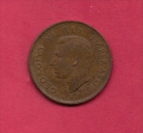 SOUTH AFRICA, Circulated Coin VF, 1 Pence George VI, KM 25, C1424 - Zuid-Afrika