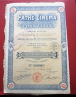 1924-  PATHé CINÉMA Pathé FRÈRES Action 100fr Titre Thème Cinéma Théâtre-Action & Title Cinema-Theater-SCRIPOPHILIE - Cinéma & Théatre