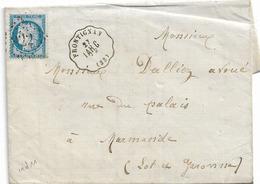 CONVOYEUR STATION FRONTIGNAN 1873 HERAULT - Railway Post