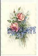 Bouquet De Roses Et De Myosotis. Coloprint Spécial 9465 - Fleurs, Plantes & Arbres