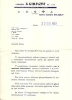 """3369 """"CARTARIA G. GARANZINI & C.-MILANO"""" 5 BOZZE PER STAMPA CARTOLINE INVIATE ALLA S.A.C.A.T. DI TORINO"""" ORIGINALE - Italy"""