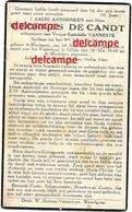 Oorlog Guerre Georges Decandt Wortegem Soldaat Gesneuveld Te Liloo 16 Mei 1940 Jagers Te Voet Wevelgem Vanneste - Devotieprenten