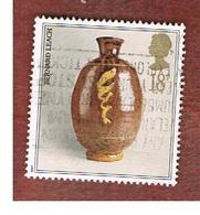 GRAN BRETAGNA (UNITED KINGDOM) -  SG 1371  -  1987 STUDIO POTTERY: POT BY B. LEACH      - USED - 1952-.... (Elizabeth II)