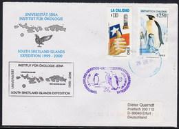 ANTARCTIC, Germany/Chile,2000,UNI Jena Ökologie-Exp.,2 Cachets,look Scan !! 4.4-19 - Non Classés