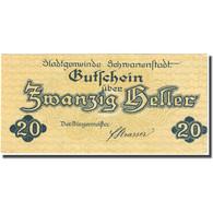 Billet, Autriche, Schwanenstadt, 20 Heller, Village, 1920 SPL Mehl:FS 977Ia - Autriche