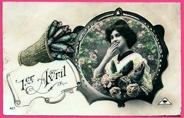 Fantaisie - 1er Avril - Poisson - Portrait Femme - Fleurs - Panier De Poissons - Photo LENORMAND - 1er Avril - Poisson D'avril