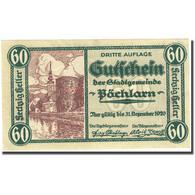 Billet, Autriche, Pöchlarn, 60 Heller, Château 1920-12-31, SPL Mehl:FS 755III - Autriche