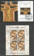PALESTINE - Art - Painting - Christmas 2000 - CTO - Gold - Religious