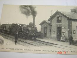 C.P.A.- Fierville Les Parcs (14) - La Halte à L'Arrivée Du Train De La Ligne De Trouville - 1910 - SUP (BF21) - France