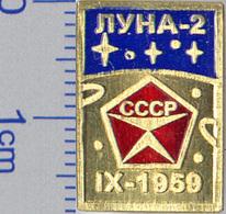 142-3 Space Russian Pin. Luna-2  Moon - Space