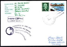 ANTARCTIC,ITALIA,Germany,NL, GANOVEX VI,HELI-Flight !! 2 Cachets,RARE !! 31.3-22 - Non Classés