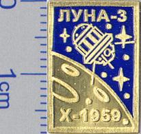 142-4 Space Russian Pin. Luna-3  Moon - Space