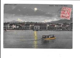 GENÈVE. Rade Et Mont Blanc. (Clair De Lune) - GE Genève