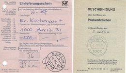 Germany. Berlin : Einlieferungsschein.   H- 9 - Old Paper