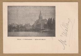 Deinze  -  Sint Martenskerk. - Eglise De St-Martin. (1901) Sloep In Water. - Deinze