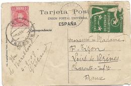 ESPERANTO BARCELONE KONGRESO VIGNETTE En L'état - Esperanto