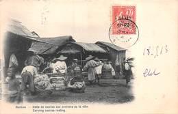 CHINE - HANKOW - Halte De Coolies Aux Environs De La Ville . Edit Bernard,Hankow  Voyagée 1913 - China