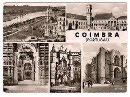 CPSM Photo Multivues Coimbra Portugal Anvenida Emidio Navarro Sé Velha Universidade  éditeur ES N°64 - Coimbra