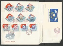 4 Pcs ROMANIA - 1964 - Space - Cosmonauts - 1948-.... Républiques