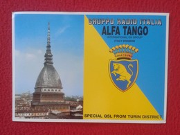 POSTAL TYPE POST CARD QSL RADIOAFICIONADOS RADIO AMATEUR GRUPPO ALFA TANGO ITALIA TURIN DISTRICT TORINO ITALY VER FOTOS - Sin Clasificación