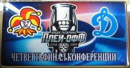 686-3 Space - Sport Russian Pin Hocky Gagarin Cup Jokerit (Helsinki) - Dynamo (Moscow) 2018-19 (40х22mm) - Space
