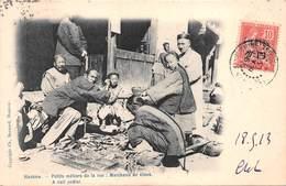 CHINE - HANKOW - Petits Métiers De La Rue:Marchands De Clous . Edit Bernard,Hankow  Voyagée 1913 - China