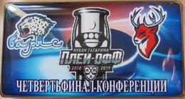 686-4 Space - Sport Russian Pin Hocky Gagarin Cup Barys (Nur-Sultan) - Torpedo (Nigniy Novgorod) 2018-19 (40х22mm) - Space