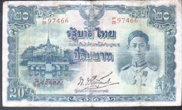Thailande, 20 Baht, Periode Intervention Japonaise - Thaïlande
