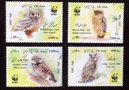 Iran 2011; WWF; Fauna Animals, Birds Owls; MNH VF** - Iran