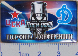 686-9 Space - Sport Russian Pin Hocky Gagarin Cup CSKA (Moscow) - Dynamo (Moscow) 2018-19 (40х22mm) - Space