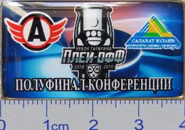 686-11 Space - Sport Russian Pin Hocky Gagarin Cup Avtomobilist (Yekaterinburg) - Salavat Yulaev (Ufa) 2018-19 (40х22mm) - Space