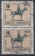 D8825 - Turkey Mi.Nr. 2155 O/used, Pair - 1921-... République