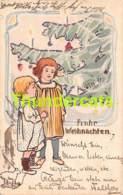 CPA DESSIN ENFANT 1901 O DU FROHLICHE WEIHNACHTSZEIT - Dessins D'enfants