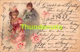 CPA LITHO 1899 ENFANTS GRUSS AUS DUSSELDORF ENSIVAL ( MANQUE ANGLES ) - Illustrateurs & Photographes