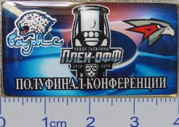 686-12 Space - Sport Russian Pin Hocky Gagarin Cup Barys (Nur-Sultan) - Avangard (Omsk) 2018-19 (40х22mm) - Space
