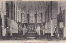 27. FLEURY SUR ANDELLE. CPA . INTERIEUR DE L'EGLISE. ANNÉE 1908 - France