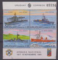 Uruguay 1994 Navy Day / Ships 4v ** Mnh (42401) - Uruguay