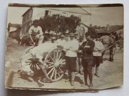Photo Originale Soldat Jules PENOT Cheval Mort Dans Charette  Guerre 1914 1918 WWI - 1914-18