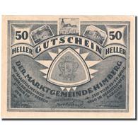 Billet, Autriche, Himberg, 50 Heller, Valeur Faciale, 1920 SPL Mehl:FS 374a - Autriche