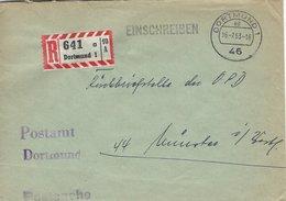 Germany.  Postsache - Registered Cover. Dortmund 1963    H- 4 - BRD