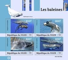 2019-04- NIGER -  WHALES        4V    MNH** - Baleines
