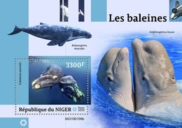 2019-04- NIGER -  WHALES        BF 1V    MNH** - Baleines