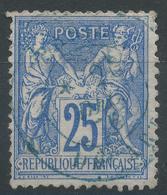 Lot N°48201  N°79, Oblit Cachet à Date BLEU De PARIS DEPART - 1876-1898 Sage (Type II)