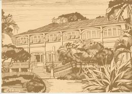 C.P. - GRAND BASSAM - CAPITALE DE LA COTE D'IVOIRE DE 1893 A 1900 - LE PALAIS DU GOUVERNEUR-DESSIN DE CHRISTIANE ACHALME - Costa De Marfil