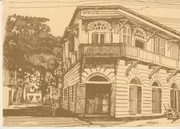 C.P. - GRAND BASSAM - CAPITALE DE LA COTE D'IVOIRE DE 1893 A 1900 - MAISON HADDAD - DESSIN DE CHRISTIANE ACHALME - Costa De Marfil